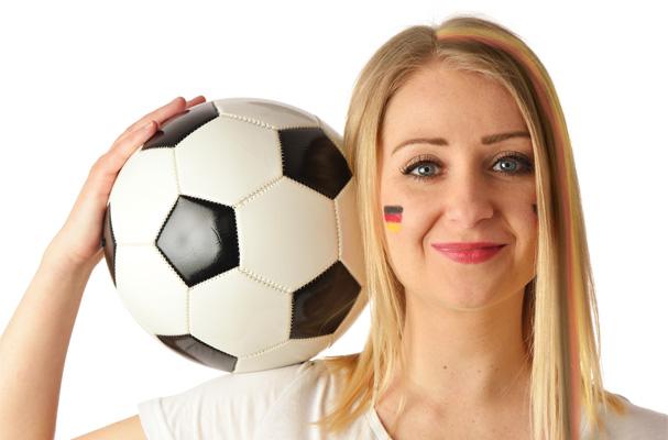Deutschland-Schminke für die Fußball-WM 2018